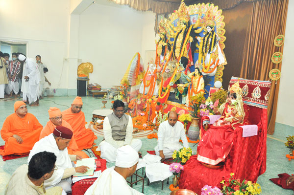 Hon'ble Governor's Puja Visit on October 2015