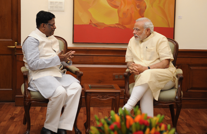 Hon'ble Governor with Prime Minister of India, Shri Narendra Modi