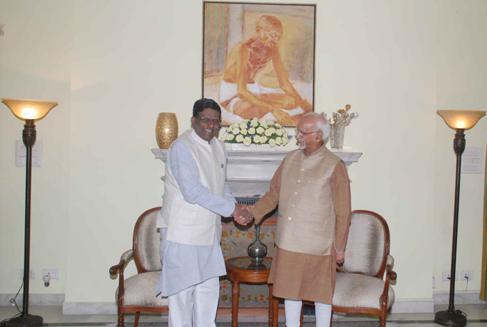Hon'ble Governor with Vice President of India, Shri Mohammad Hamid Ansari