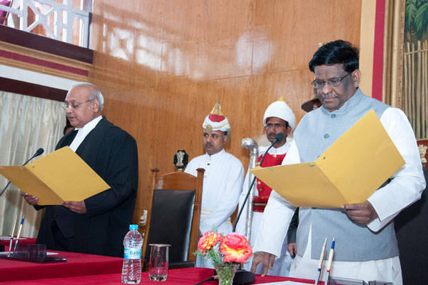 Sworn-in as the Chief justice of the Meghalaya High Court