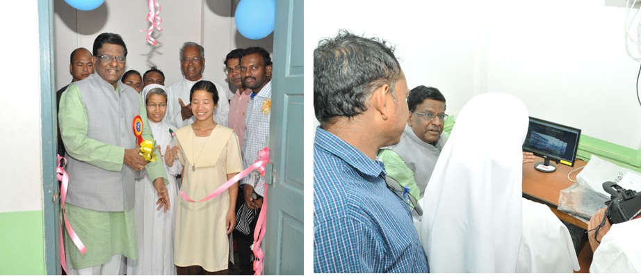 Inauguration of the Resource Centre cum Computer Lab sponsored by CBM India Trust at the Ferrando Speech and Hearing Centre in Ri-Bhoi District