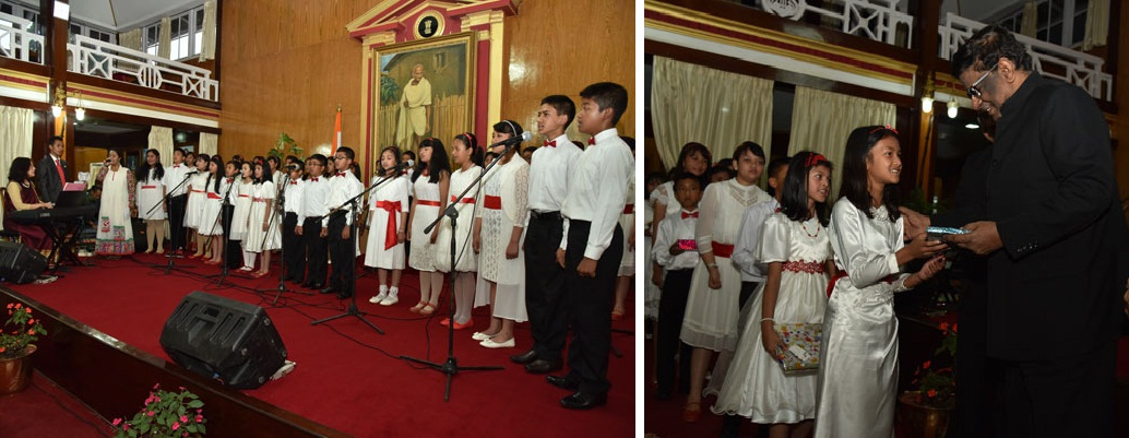 The Aroha Choir group of Shillong performed at Raj Bhavan, Shillong on 7th May, 2016.