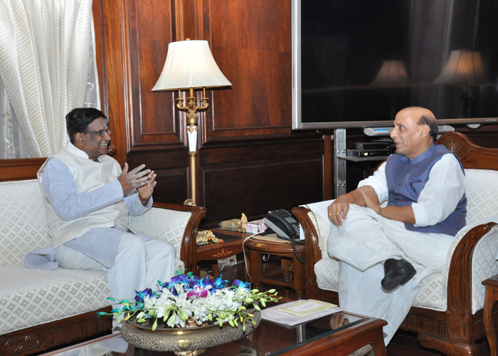 Hon'ble Governor with Home Minister, Shri Rajnath Singh